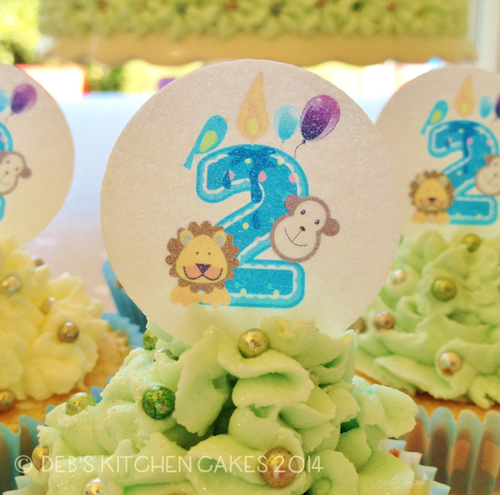 Cake Toppers Birthday Themes Jungle Safari Happy 2nd Boys Zoo Cupcake