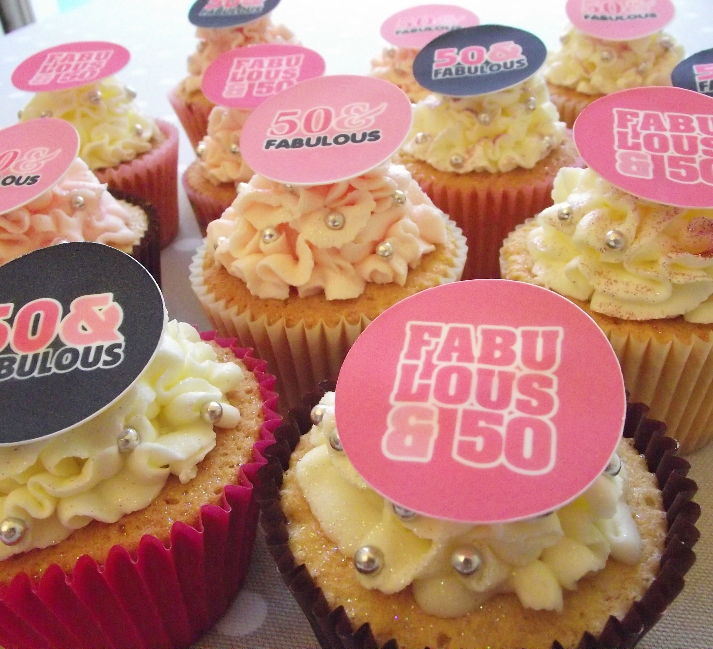 Happy 50th Birthday Cupcake Toppers