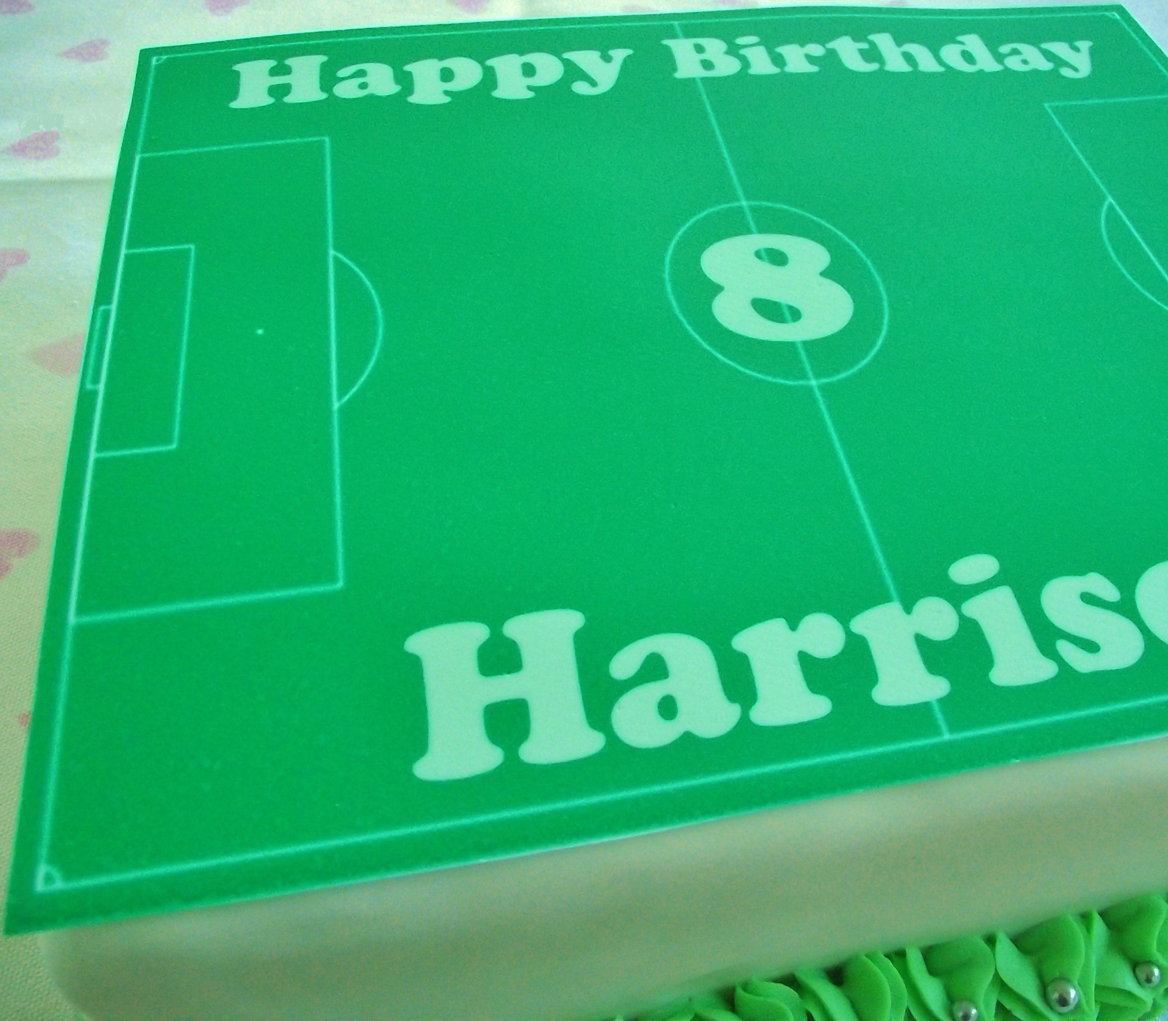 Football Pitch Cake Topper Football Pitch Cake Topper