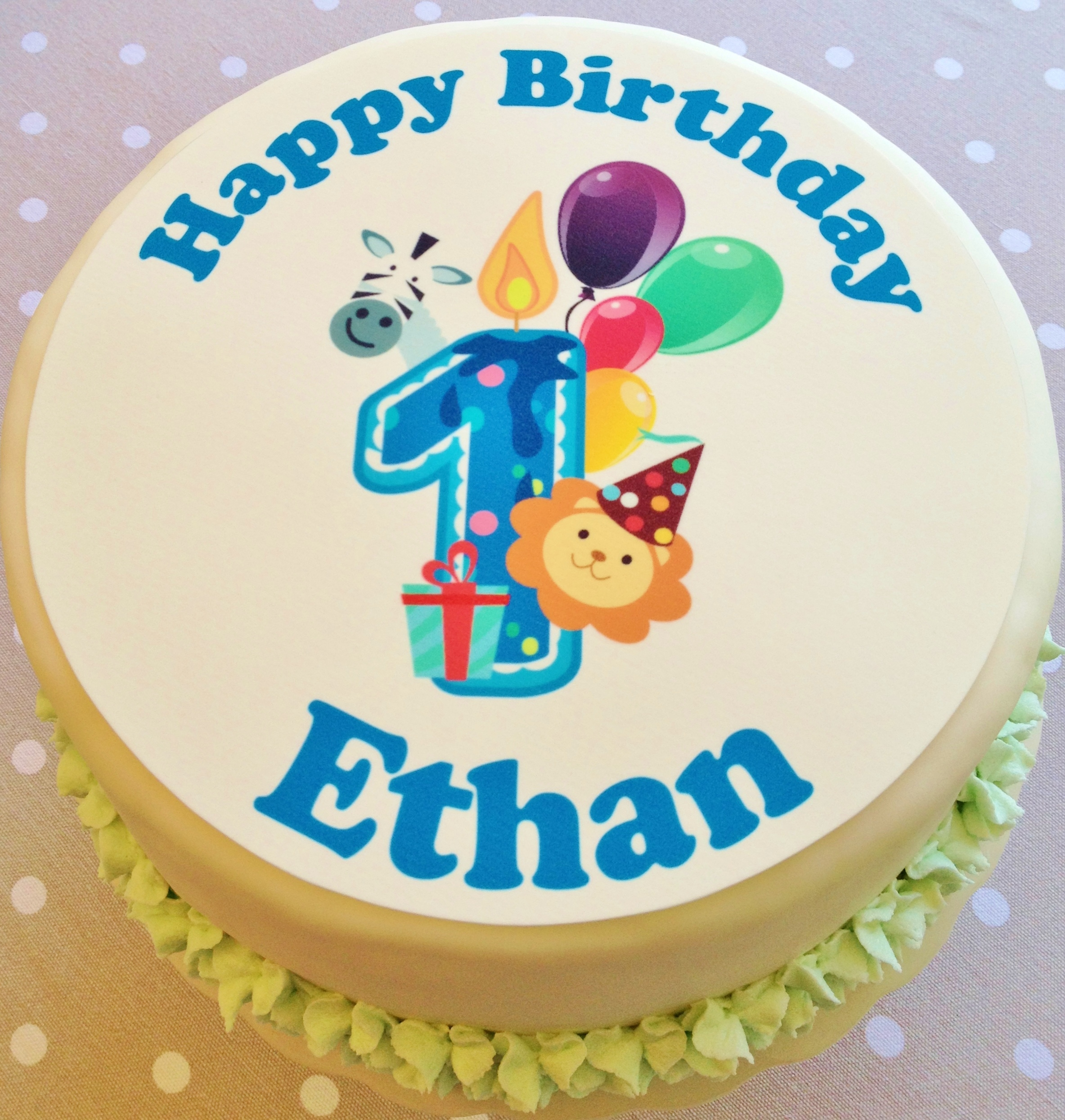 Cake Toppers Birthday Themes Jungle Safari Happy 1st Boys Personalised Zoo Topper