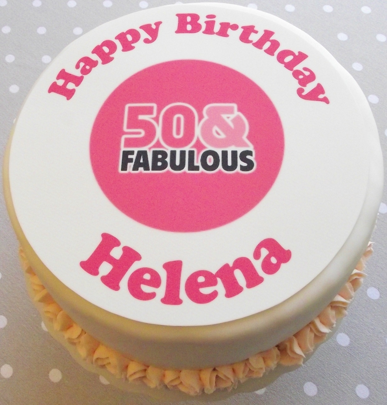 Happy 60th Birthday Personalised Cake Topper