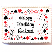 Playing Cards Cake Topper