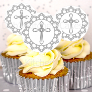 Cross Cake Toppers