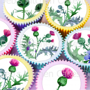 Thistle Cake Toppers