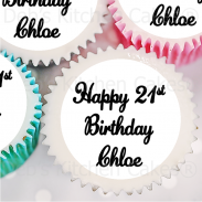 Text Cupcake Toppers