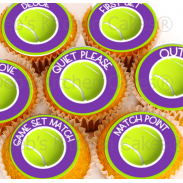 Tennis Cupcake Toppers