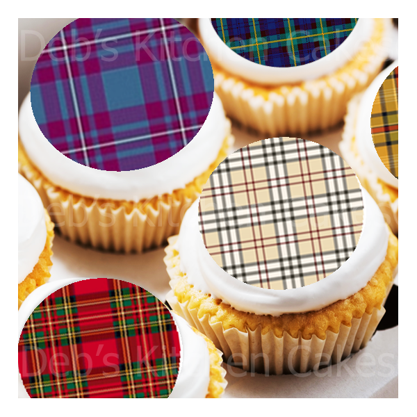 Scottish Tartan Cake Toppers